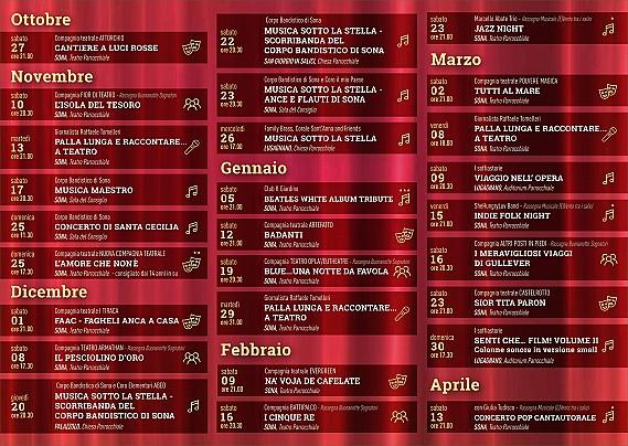 CALENDARIO TAPPETO ROSSO 2018-2019