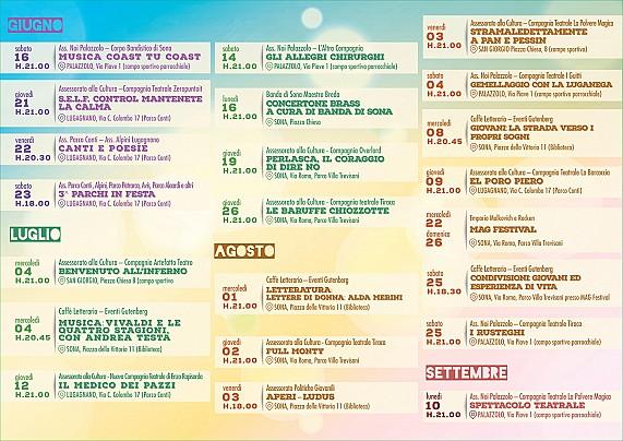 Stagione Teatrale e Musicale Estiva 2018