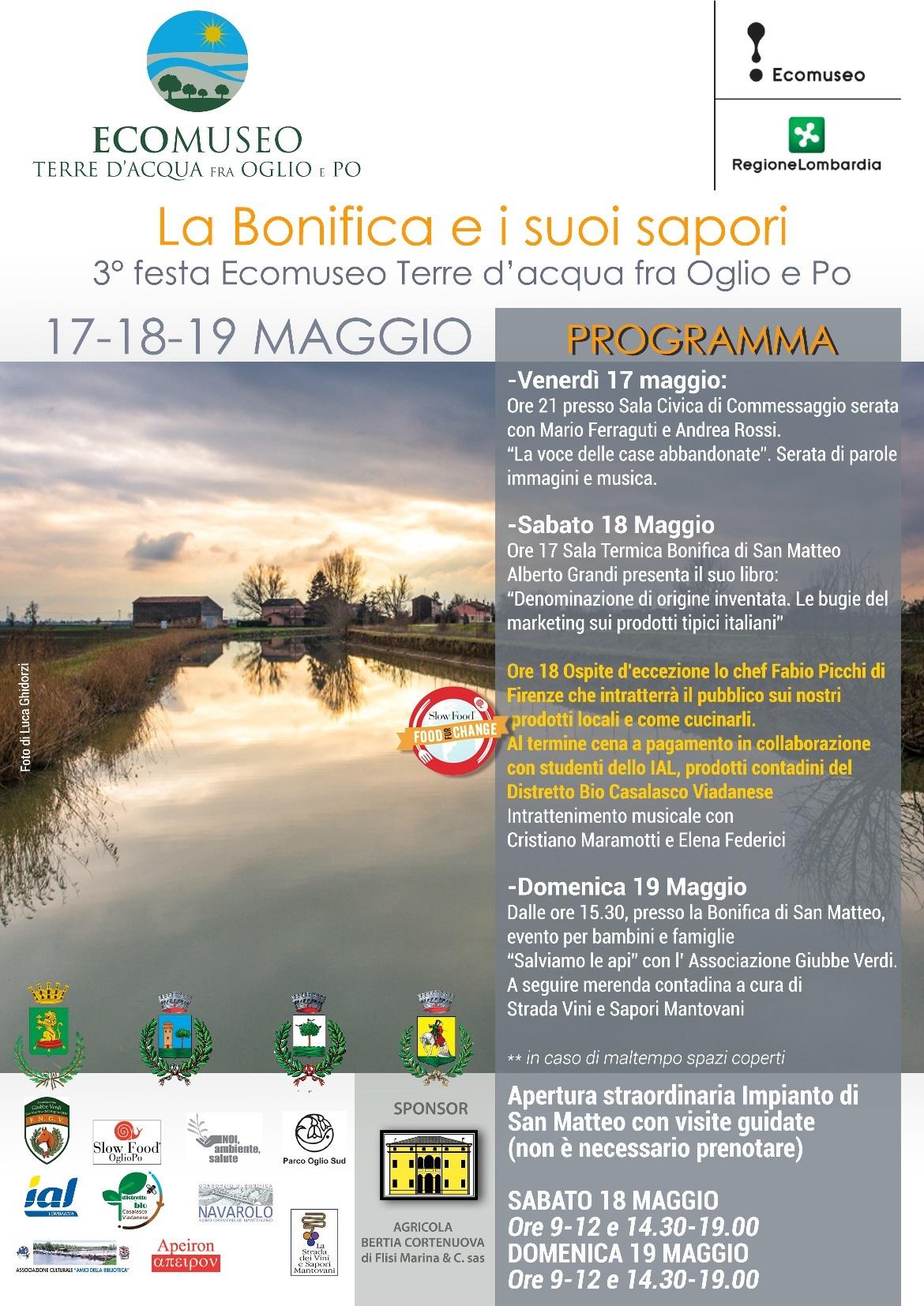 17/05/2019 - LA BONIFICA E I SUOI SAPORI - 3° FESTA ECOMUSEO TERRE D  ACQUA FRA OGLIO E PO