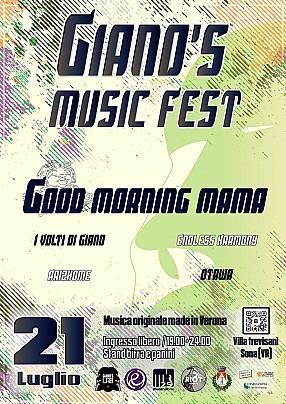 Locandina Giano's Music fest