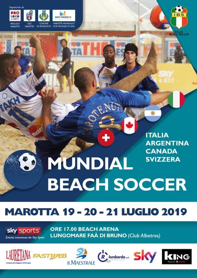 Il Mundial Beach Soccer fa tappa a Marotta. Un week-end di sport, divertimento e beneficenza