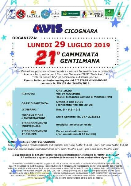 29/07/2019 - 21° CAMMINATA GENTILMANA