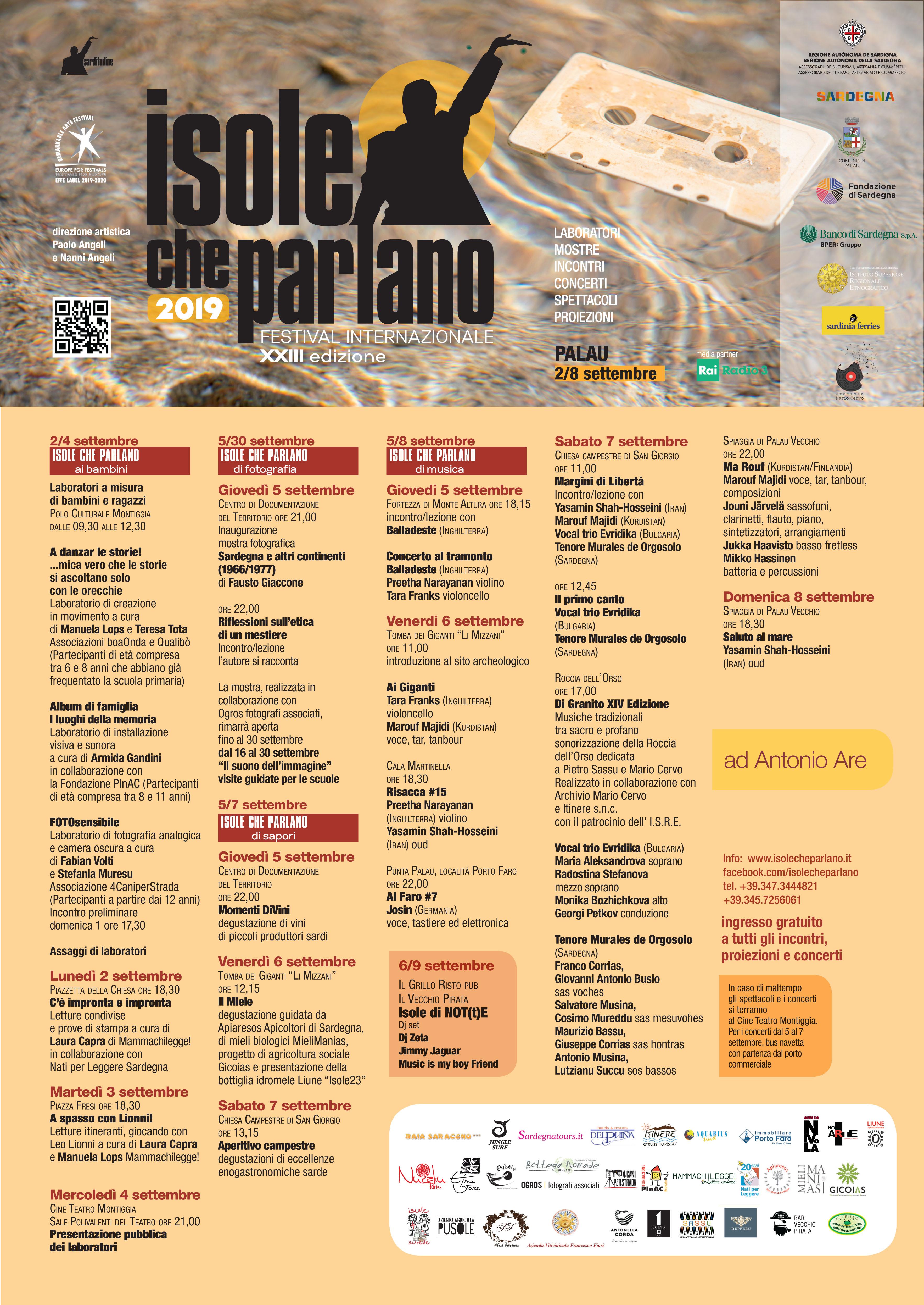 ISOLE CHE PARLANO FESTIVAL INTERNAZIONALE XXIII EDIZIONE