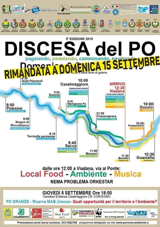 15/09/2019 - DISCESA DEL PO