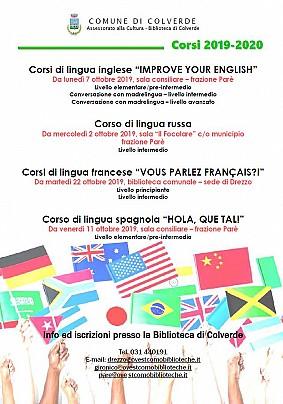 Colverde 2019 Lingue