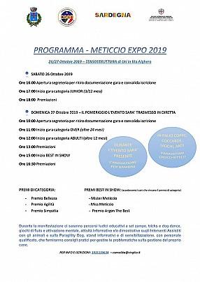 Programma meticcio expo 2019