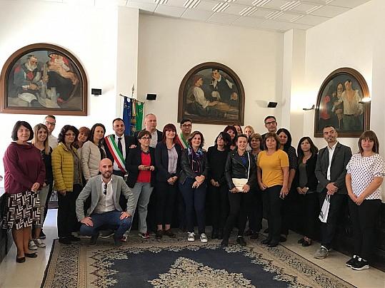25 - PLUS Anglona-Coros-Figulinas e PLUS Nuoro - Delegazione bulgara - Il Sindaco di Osilo Giovanni Ligios e il Sindaco di Nuoro Andrea Soddu