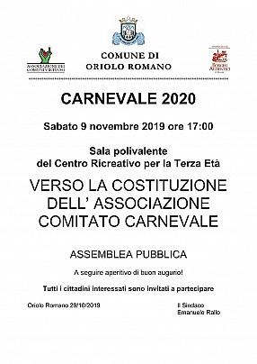 Costituzione comitato carnevale1