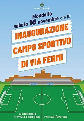 Inaugurazione campo Sportivo Fermi