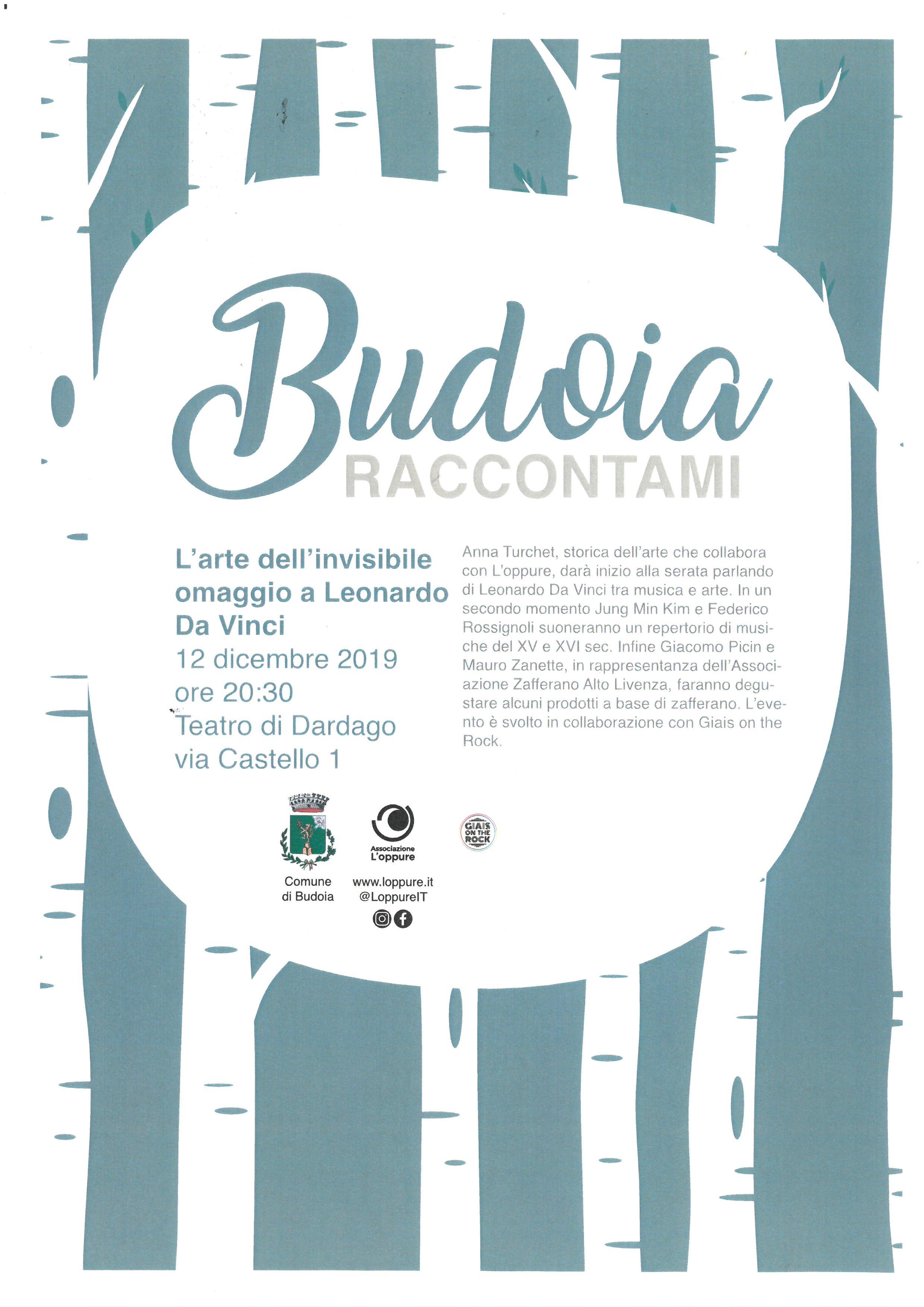 BUDOIA RACCONTAMI: L'ARTE DELL'INVISIBILE OMAGGIO A LEONARDO DA VINCI