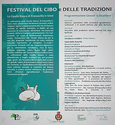 FESTIVAL DEL CIBO E DELLE TRADIZIONI - PROGRAMMA