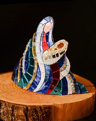 Madonna col Bambino. Presepio in mosaico di Annafietta