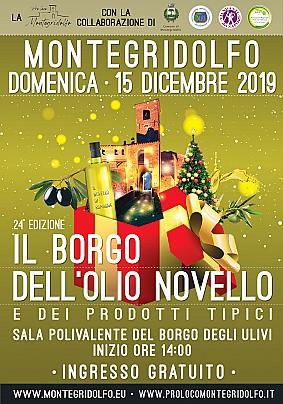 Il Borgo dell'Olio Novello. Manifesto
