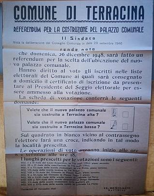 Manifesto Referendum palazzo Comunale