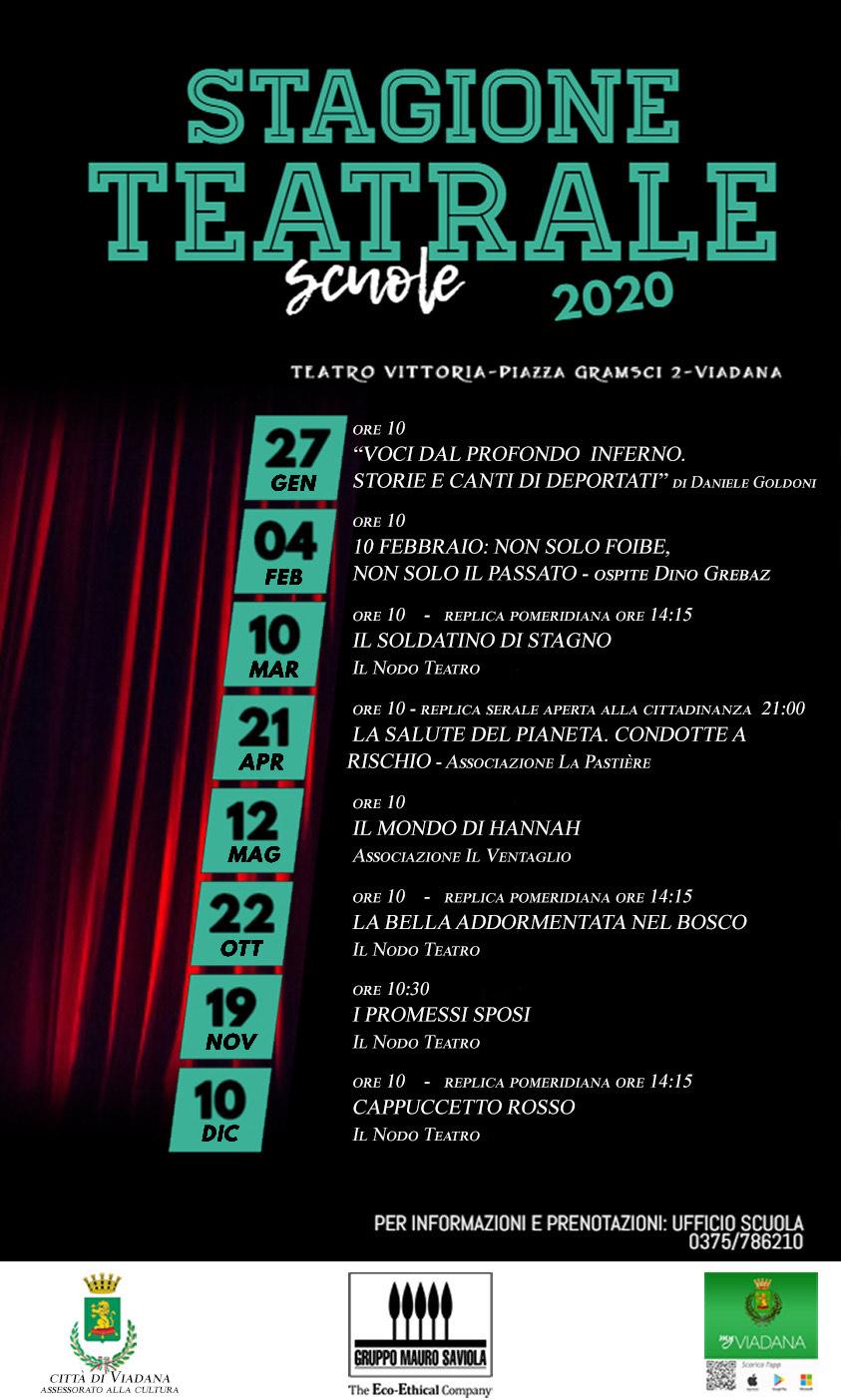 27/01/2020 - STAGIONE TEATRALE SCUOLE 2020