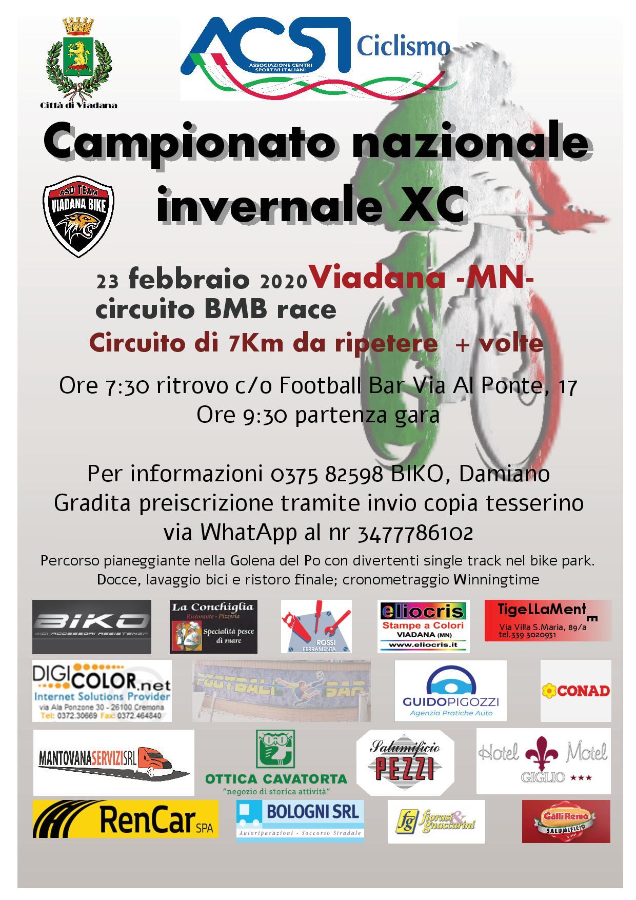23/02/2020 - CAMIPIONATO NAZIONALE INVERNALE - CIRCUITO BMB RACE