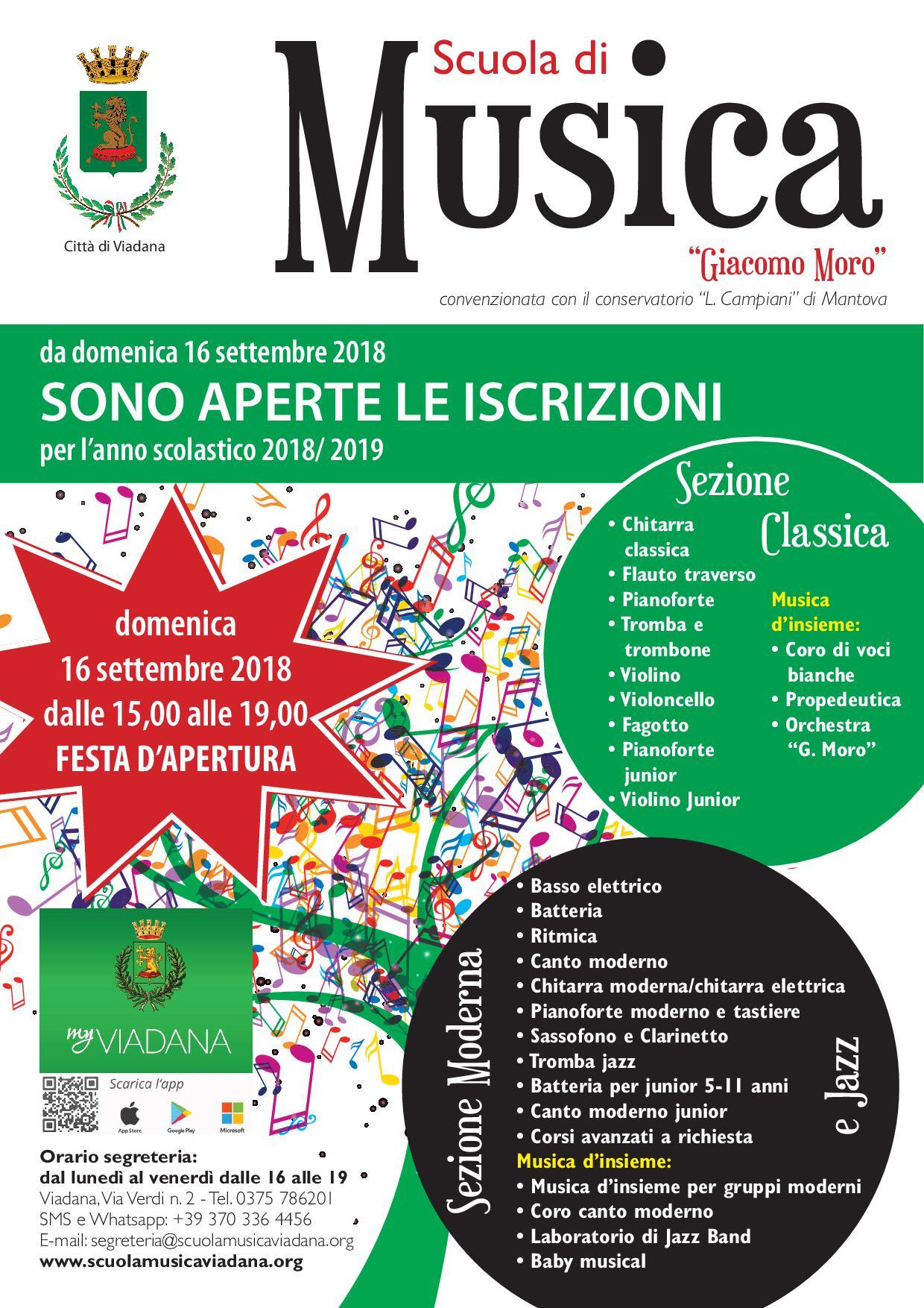 """16/09/2018 - Festa d Apertura della Scuola di Musica """"G.Moro"""""""