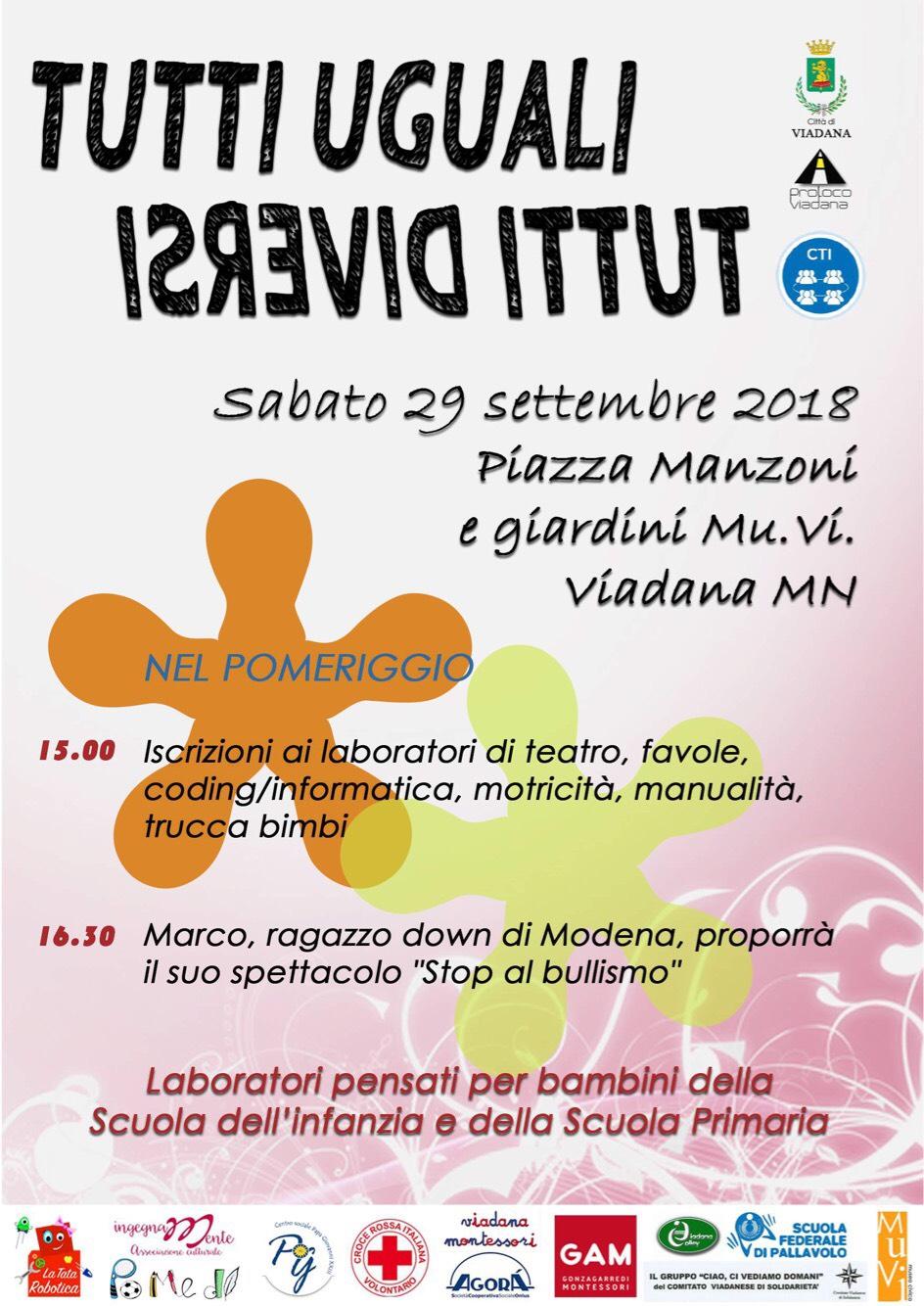 29/09/2018 - TUTTI UGUALI TUTTI DIVERSI