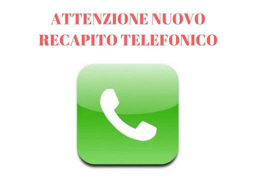 NUOVO NUMERO DI TELEFONO SERVIZI SOCIALI