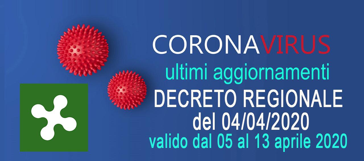 NUOVA ORDINANZA ❌ n.521 di Regione Lombardia del 04/04/2020