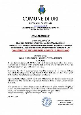 10.04.2020 COMUNICAZIONE Approvazione elenco esercenti e graduatoria buoni spesa solidali - Consegna Buoni_pages-to-jpg-0001