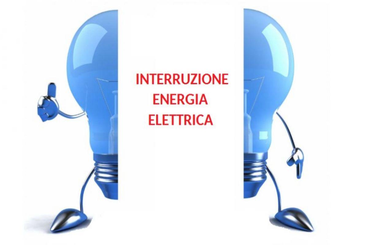 INTERRUZIONE ENERGIA ELETTRICA GIOVED' 21 GENNAIO