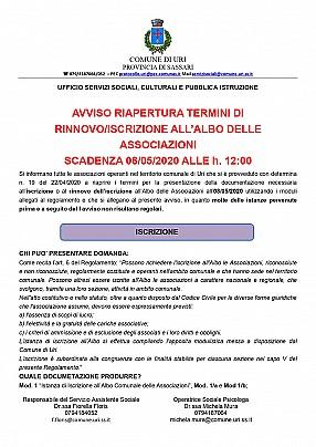 ALLEGATO B DET 019 DEL 22.04.2020 II AVVISO ISCRIZIONI ASSOCIAZIONI_pages-to-jpg-0001