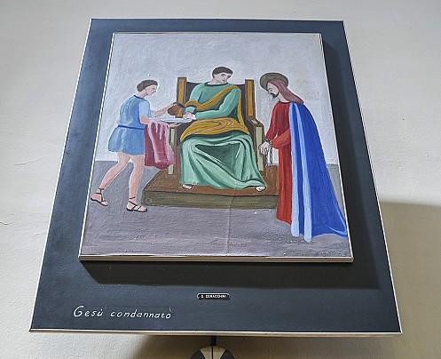 via-crucis gesu condannato (opera di ceracchini)