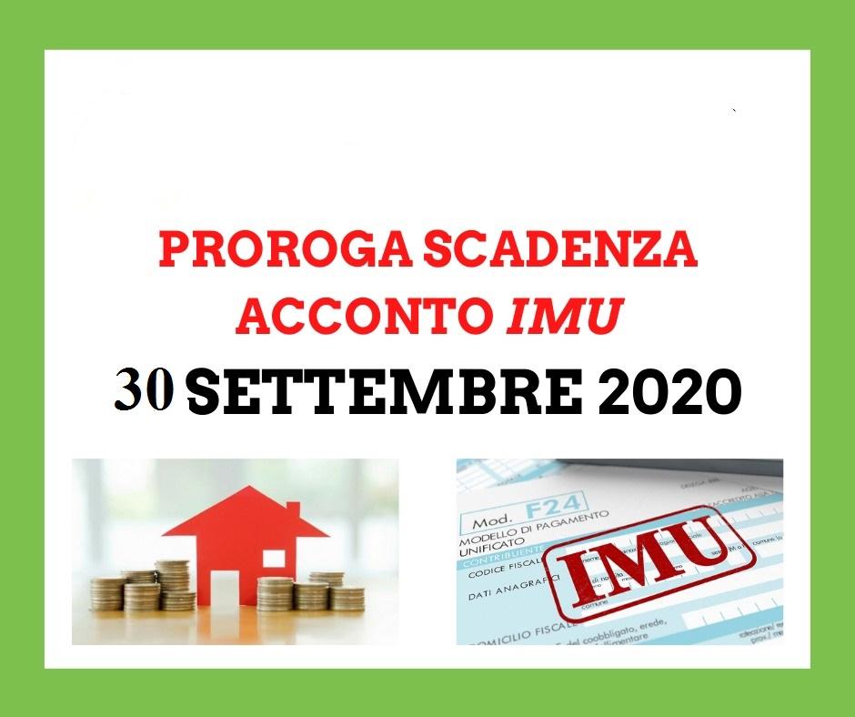 Emergenza Covid-19 -Differimento del versamento dell'acconto I.M.U. Anno 2020 dal 16/06/2020 al 30/09/2020