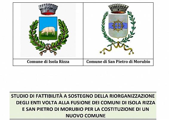 Studio di fattibilità della fusione tra il Comune di Isola Rizza e il Comune di San Pietro di Morubio