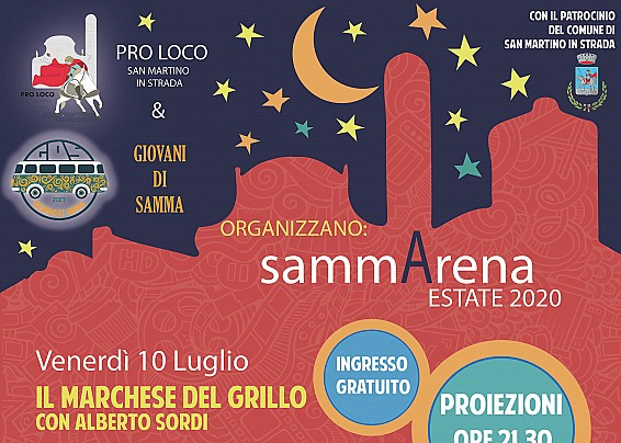 """Venerdì prende il via """"sammArena"""", il cinema sotto le stelle!"""