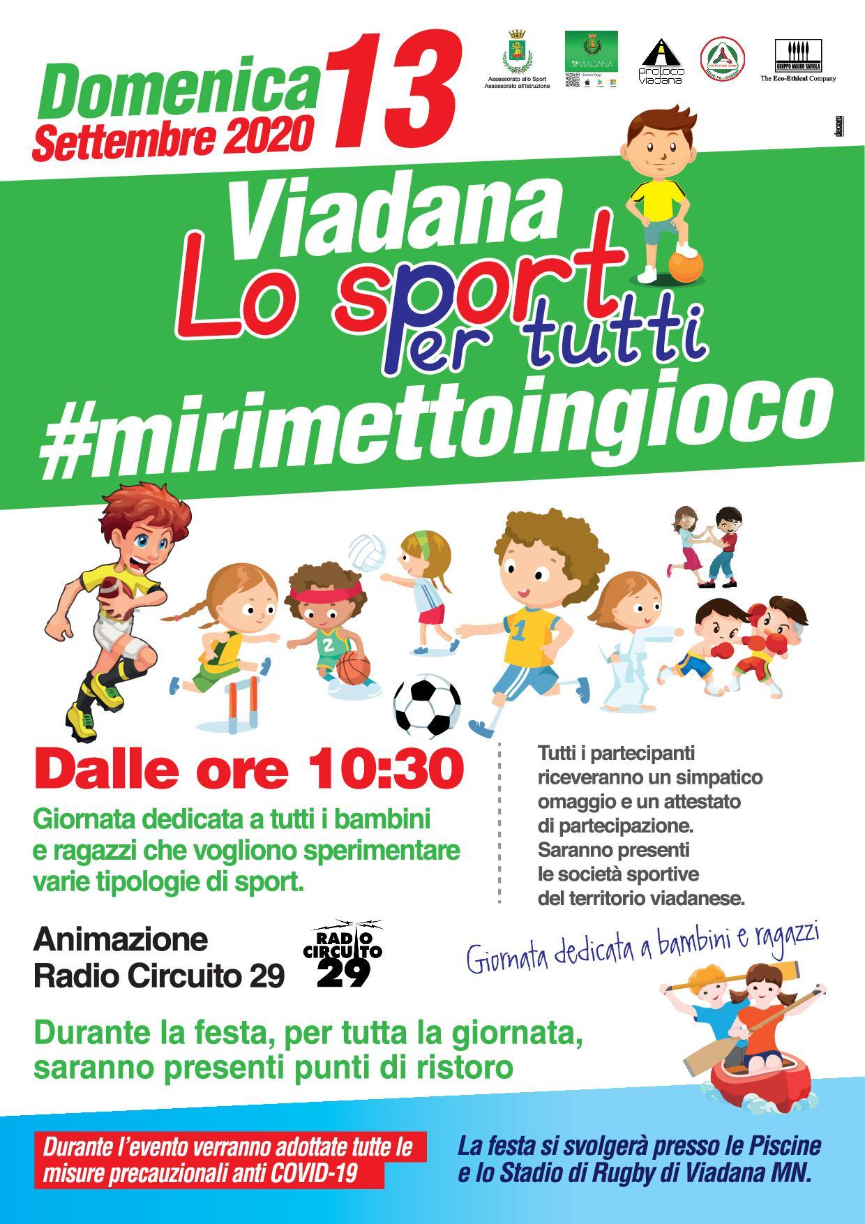13/09/2020 - VIADANA LO SPORT PER TUTTI