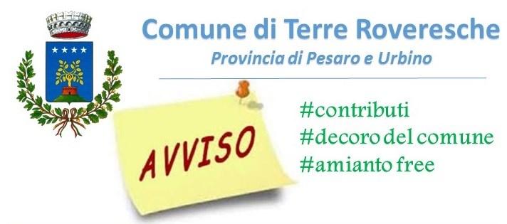 #CONTRIBUTI, #DECORO, #AMIANTOFREE