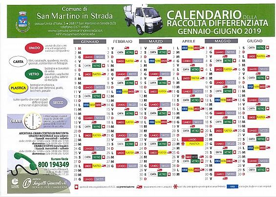Giorno Di San Martino Calendario.Grandi Novita Per La Raccolta Differenziata Dal 2019