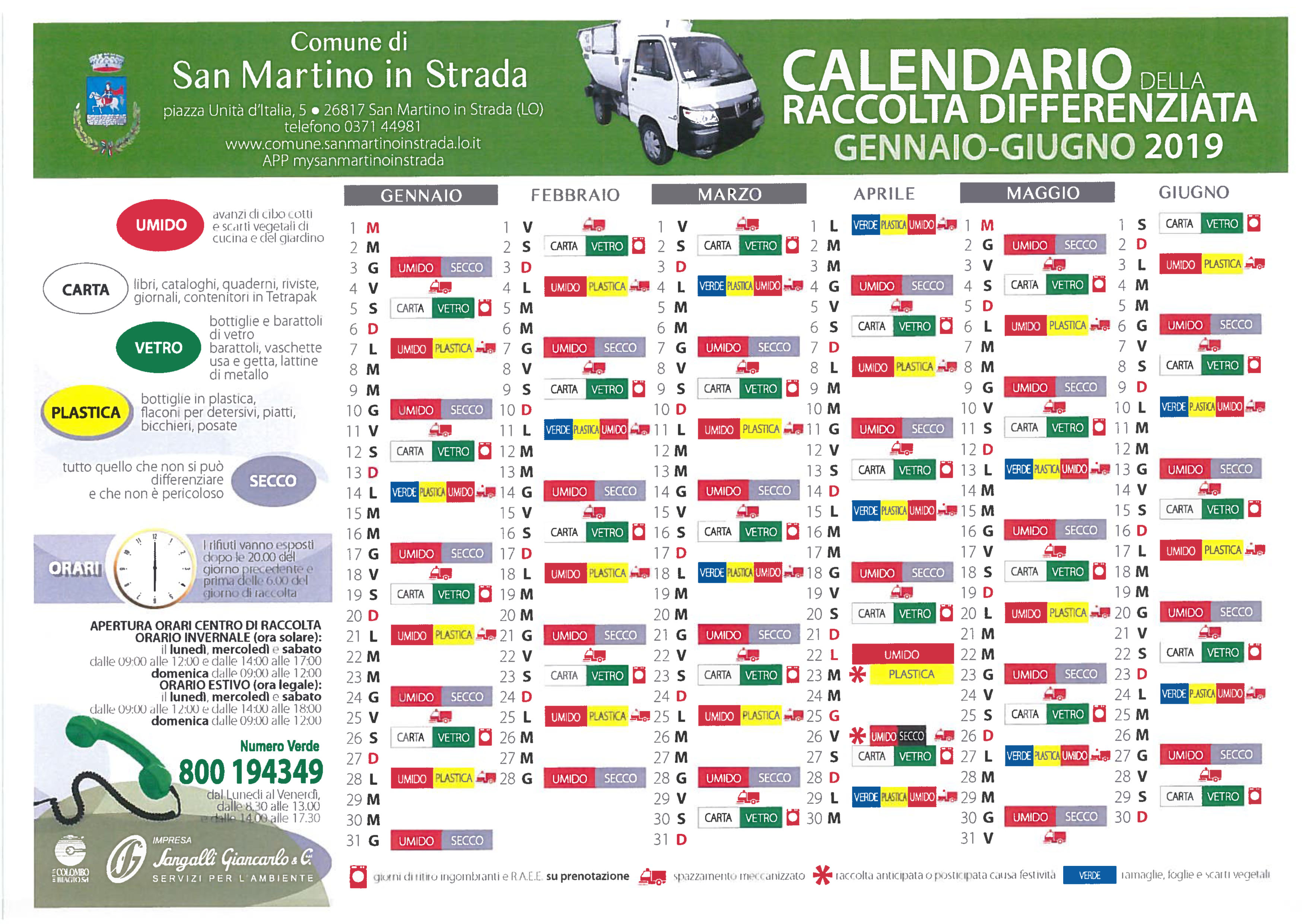 Calendario Differenziata.Grandi Novita Per La Raccolta Differenziata Dal 2019