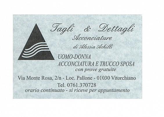 Tagli e Dettagli di Alessia Achilli - Parrucchiere uomo e donna, acconciature e trucco - AIR VITORCHIANO