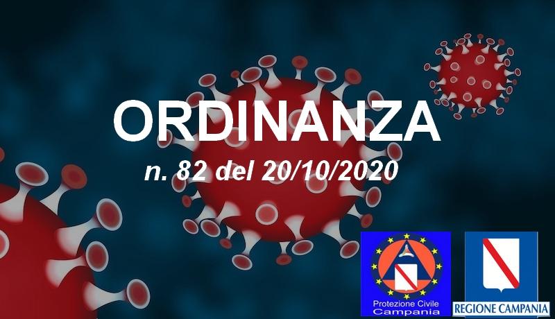 Ordinanza Regionale n. 82 del 20 ottobre 2020