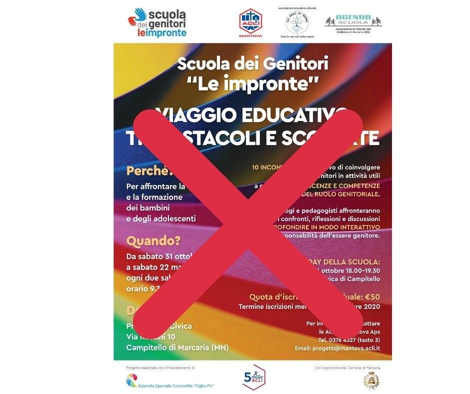 """SCUOLA DEI GENITORI """"LE IMPRONTE"""" - OPEN DAY E CORSO SOSPESO"""