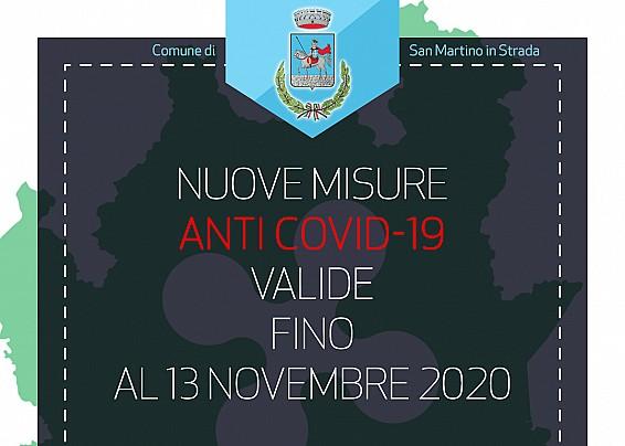 Nuove misure anti Covid-19 valide fino al 13 novembre 2020
