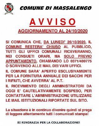 AVVISO ORARI COMUNE COVID