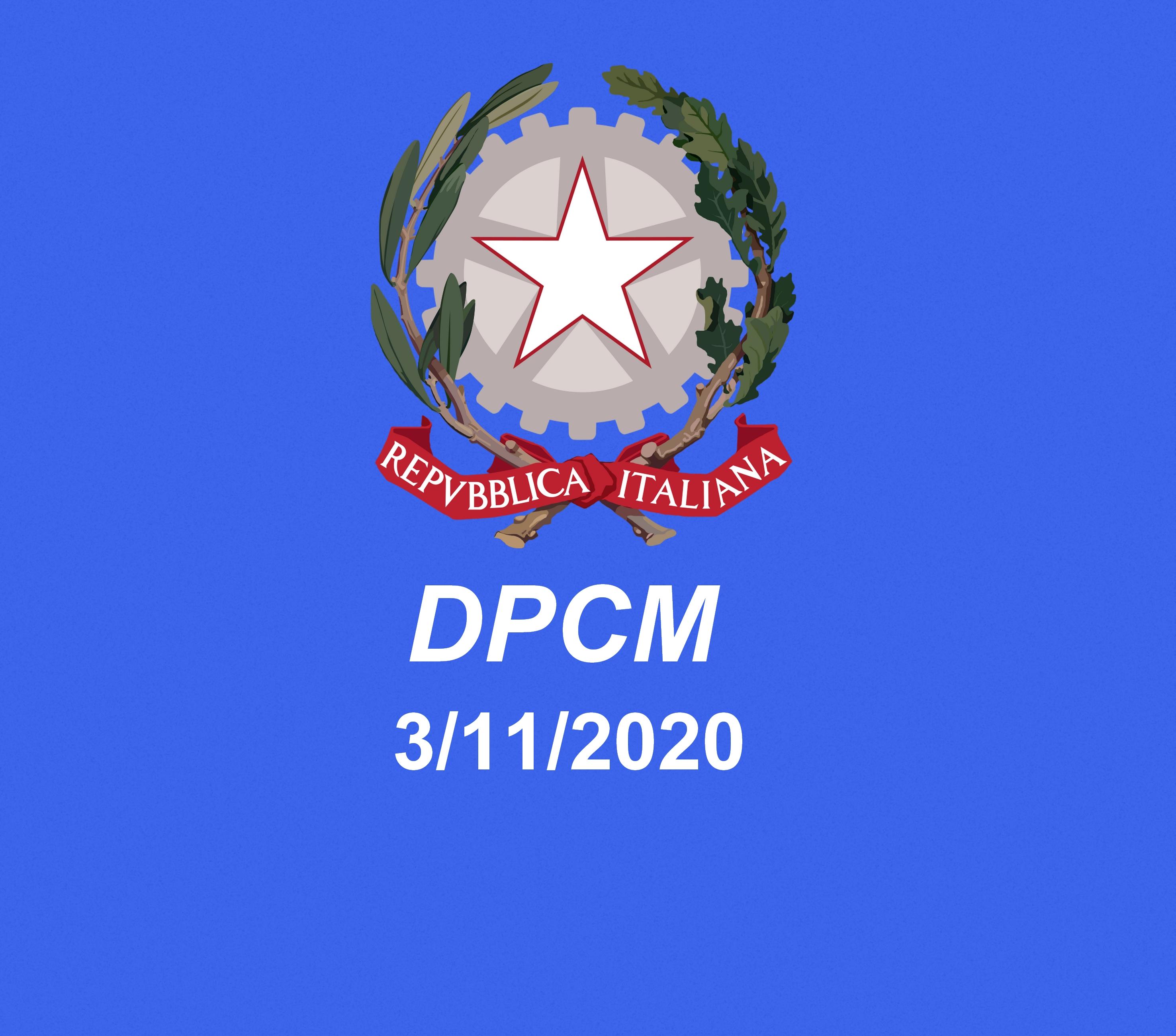 DPCM del 3 novembre 2020