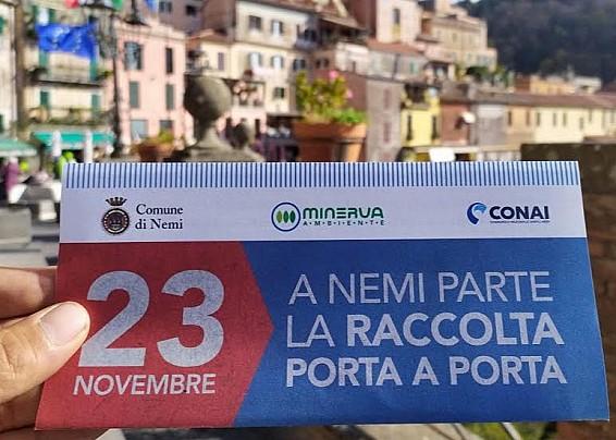 PARTE LA RACCOLTA DIFFERENZIATA A NEMI, OBIETTIVO 80%