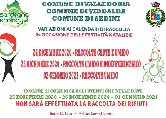 Calendario Raccolta Differenziata Valledoria 2021 Comune di Valledoria | Comune di Valledoria