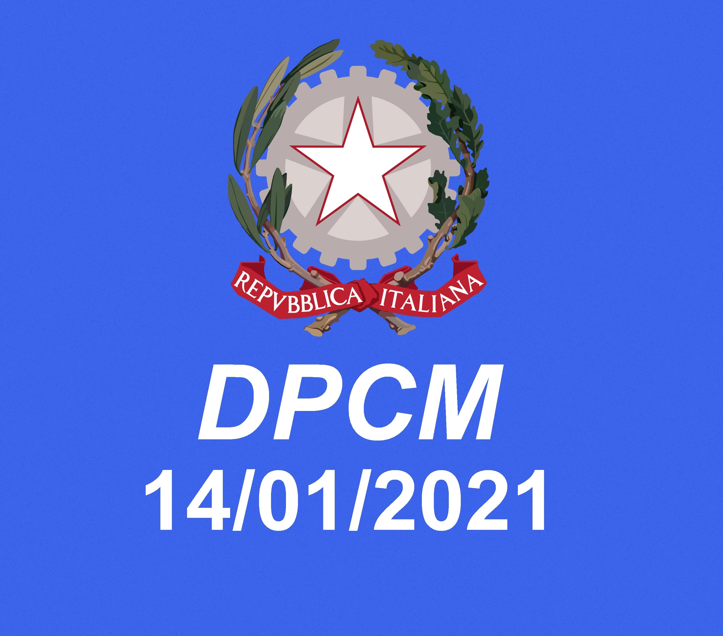 DPCM del 14 Gennaio