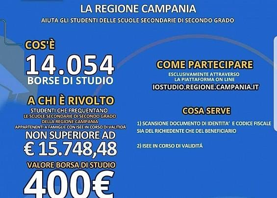 la migliore vendita negozio online molti stili Regione Campania, bando borse di studio 2018/19 | Comune di ...