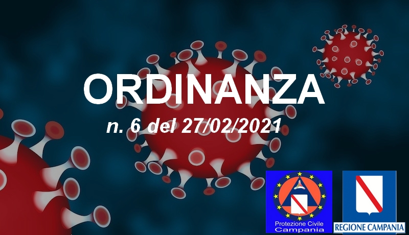Ordinanza Regionale n. 6 del 27/02/2021