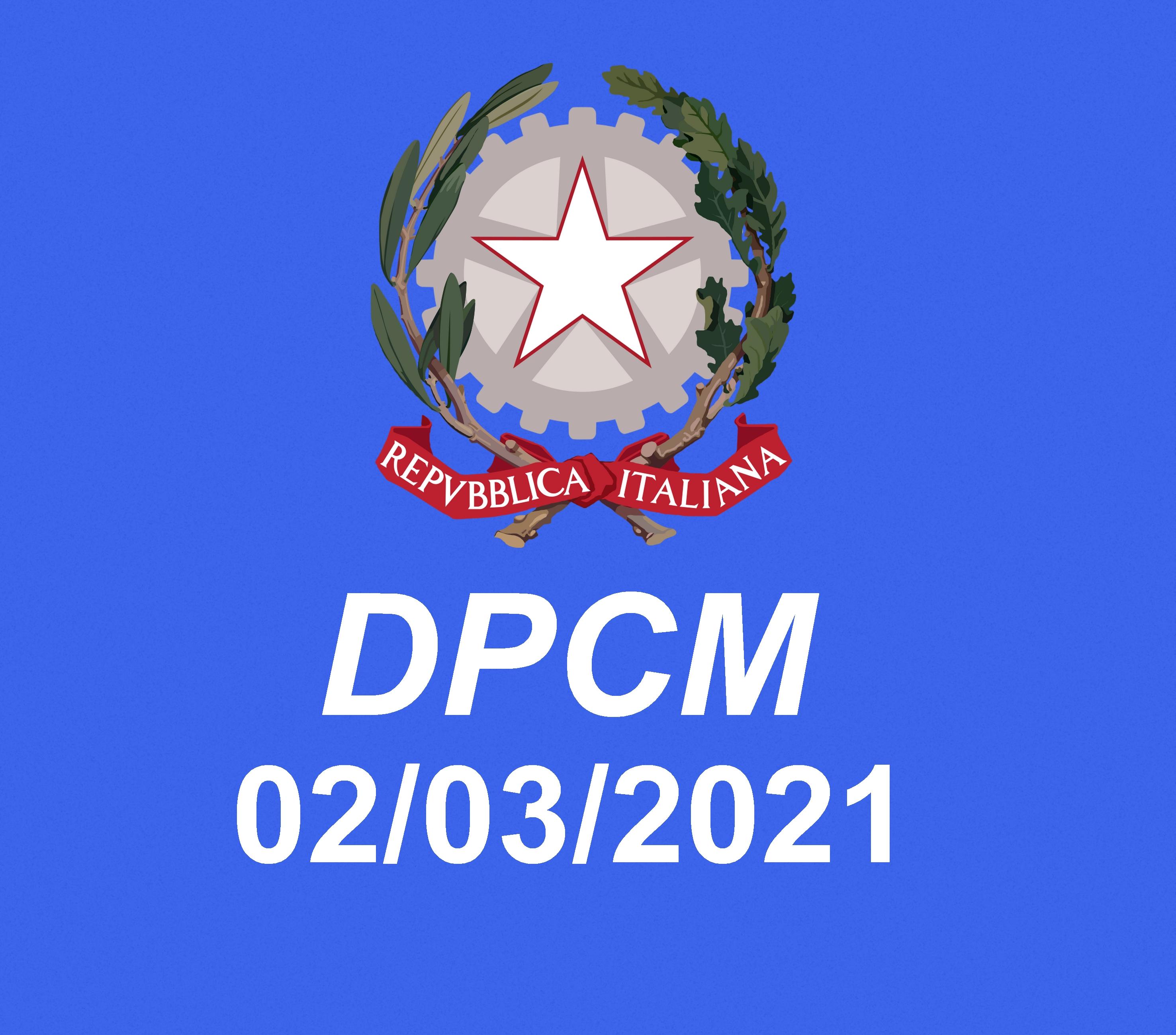 DPCM del 2 marzo 2021