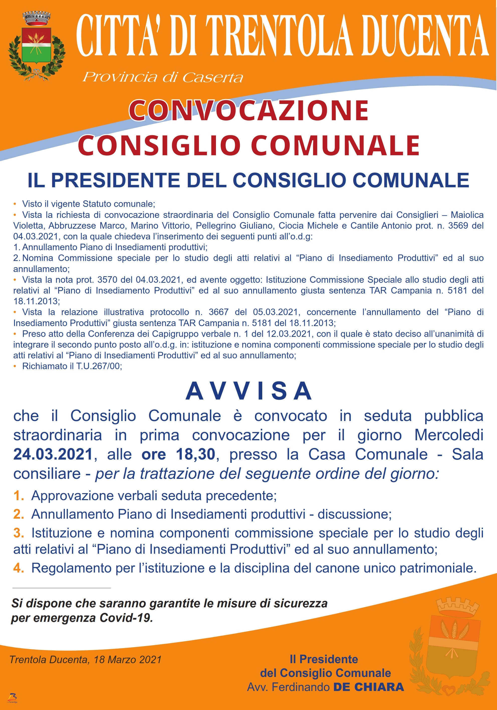 Manifesto C.C. del 24.03.2021