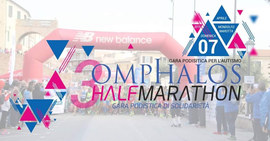 Torna il 7 aprile 2019 la 3^ edizione della Omphalos HalfMarathon, l'attesa Mezza Maratona più divertente delle Marche dedicata all'Autismo