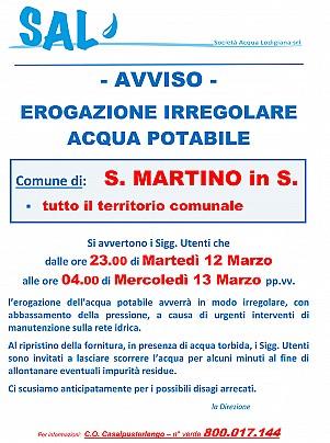 S.MARTINO IN S. - erogaz. irregolare x lavori - 13 Marzo
